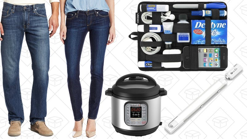 Illustration for article titled Today's Best Deals: Amazon Jeans Sale, InstantPot, Grid-It, and More