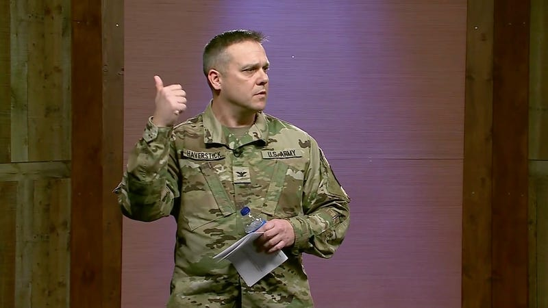 Army Col. Paul Haverstick, acting director of the Defense Media Activity, in December 2018