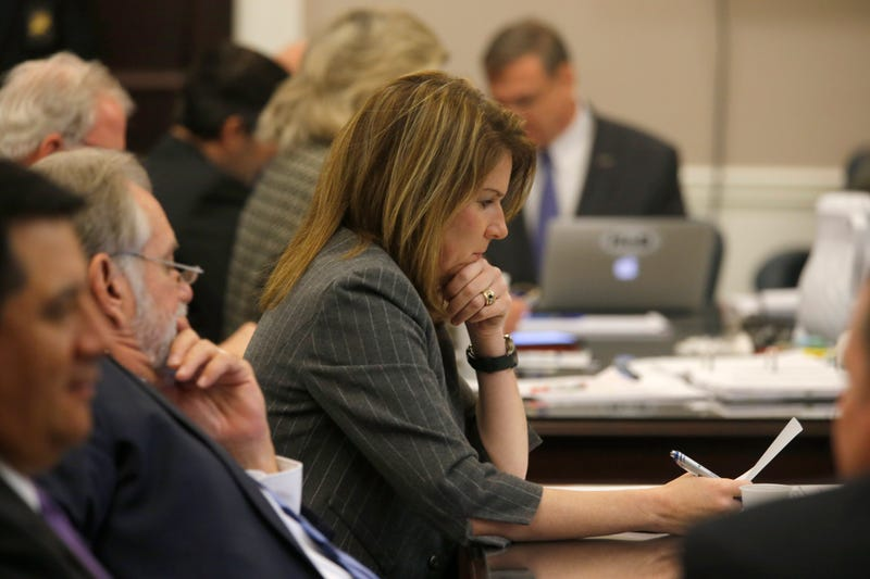 Ninth Circuit Solicitor Scarlett Wilson views a document during jury deliberations in the trial of former North Charleston Police Officer Michael Slager at the Charleston County Court in Charleston, S.C., on Dec. 5, 2016.Grace Beahm-Pool/Getty Images