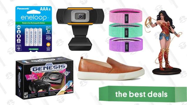 Thursday s Best Deals: Sega Genesis Mini, Panasonic AAA Batteries, Wonder Woman Statue, AstorFlex Slip-On Loafers, Letsfit Booty Bands, and More