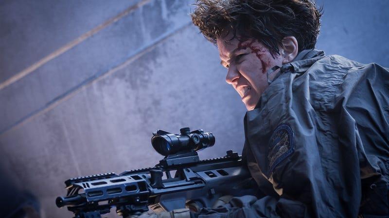 Daniels (Katherine Waterston) in Alien: Covenant. Photo: Mark Rogers TM & © 2017 Twentieth Century Fox Film Corporation