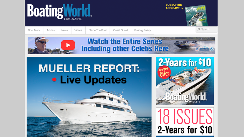'Boating World Magazine' Giving Live Updates As Its Team Of Reporters Reads All Of Mueller Report