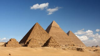 Illustration for article titled What are the Great Pyramids really made of?