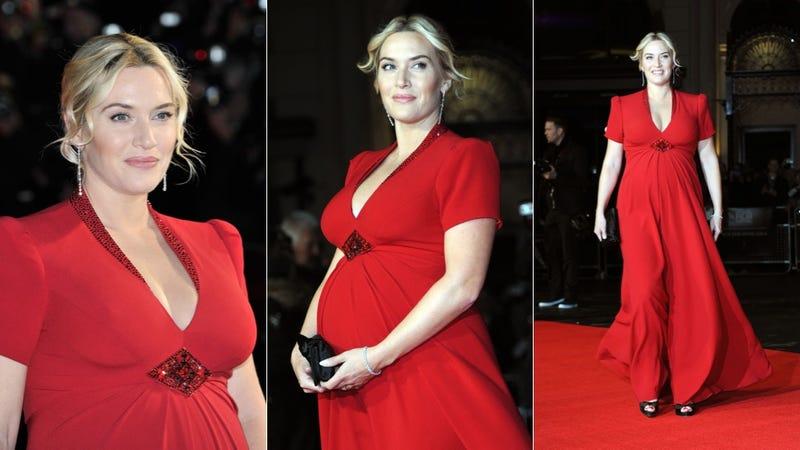 Illustration for article titled Kate Winslet Rocknrolls in Ravishing Red