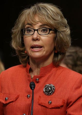 Shooting survivor and former congresswoman Gabrielle Giffords (D-Ariz.) speaks during a Senate Judiciary Committee hearing on gun violence, Jan. 30, 2013, in Washington, D.C.Mark Wilson/Getty Images