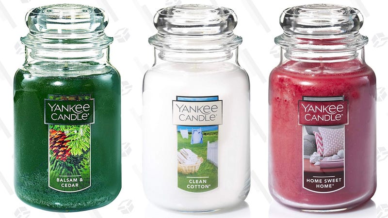 Yankee Candle Large Jar Candle, Lilac Blossoms   $15   AmazonYankee Candle Large Jar Candle, Home Sweet Home   $14   AmazonYankee Candle Large Jar Candle, Clean Cotton   $14   AmazonYankee Candle Large Jar Candle, Balsam & Cedar   $14   AmazonYankee Candle Large Jar Candle, Coconut Beach   $15   AmazonYankee Candle Large Jar Candle, Pink Sands   $14   Amazon