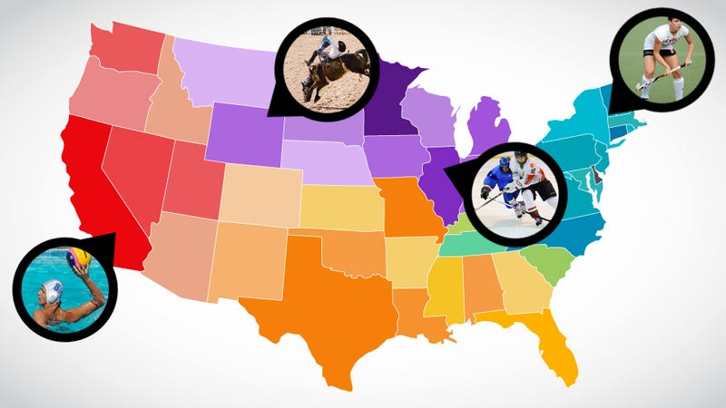 Illustration for article titled Field Hockey America Vs. Rodeo America: Mapping The Faultlines Of America's Regional Sports