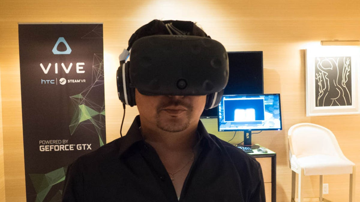 I Tried HTC's Newest Vive VR Headset  Here's What It Looks Like