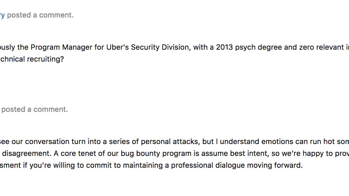 No one looks good in ubers bug bounty fight buycottarizona