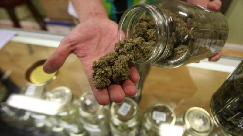 Nevada's running so low on weed that we had to use a photo of LA's weed (Photo: David McNew/Getty Images)