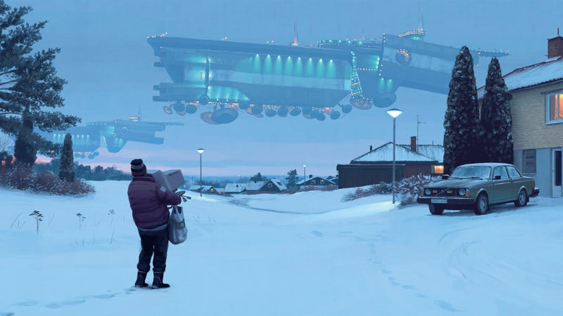 A piece of Simon Stålenhag's art from Things From the Flood, now being turned into an RPG expansion.