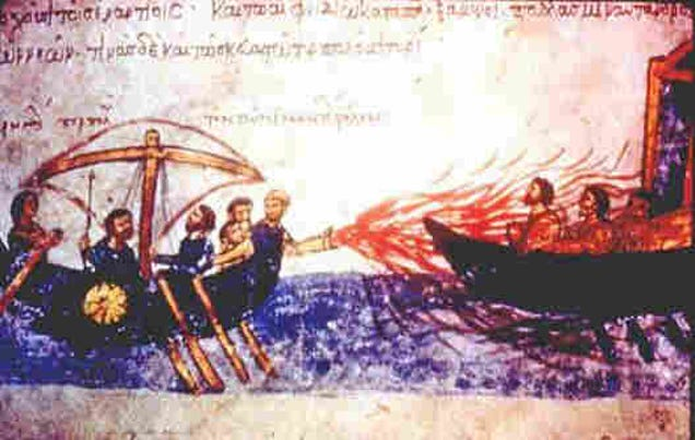 When was greek fire invented?