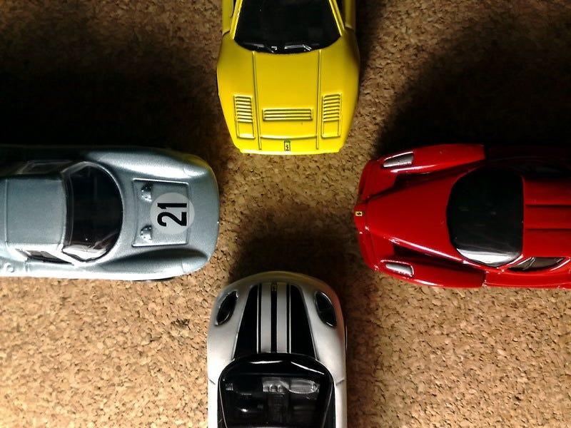 Illustration for article titled Four Ferraris