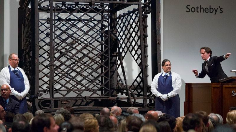 Illustration for article titled John Cena Purchases $4 Million 18th-Century Wrought Iron Cage At Auction