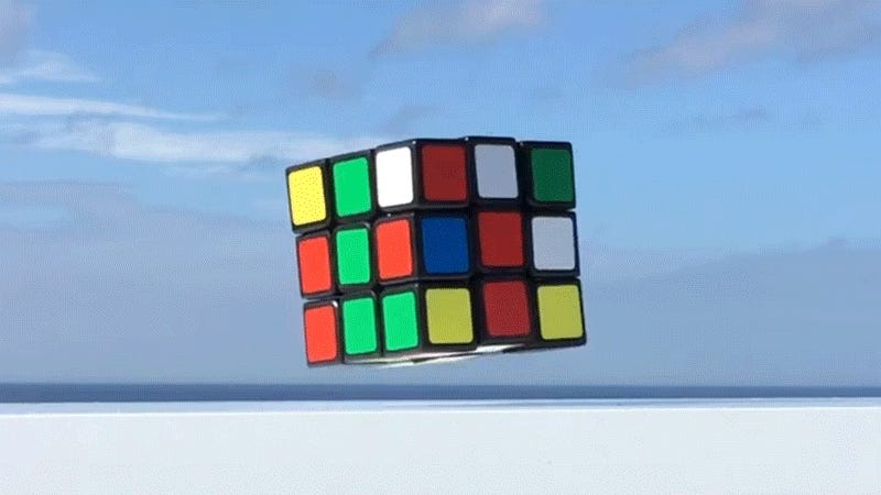 A Self-Solving Rubik's Cube That Floats In the Air is Completely Hands-Off
