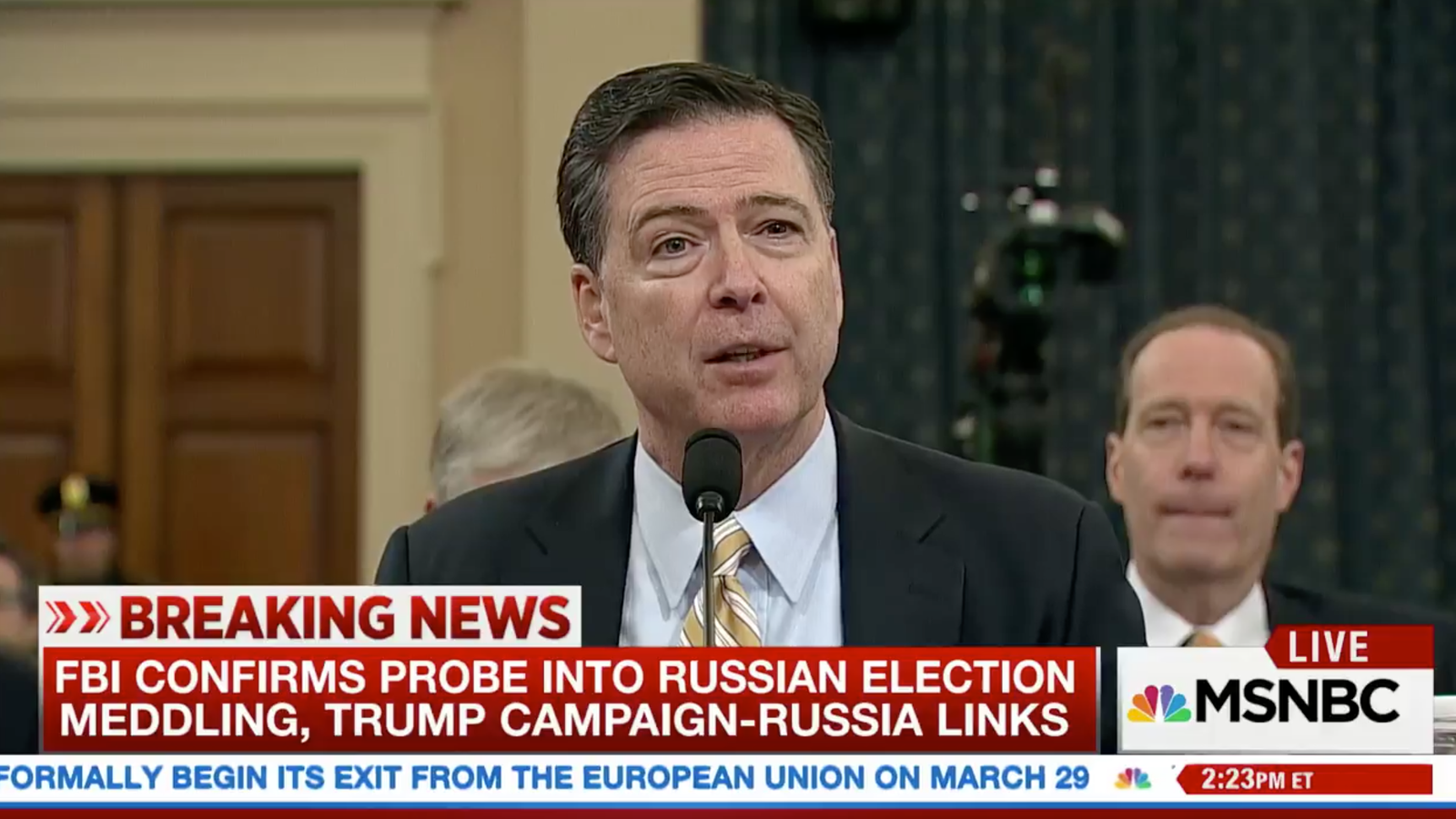 photo image FBI Director Forced to Fact-Check Trump's Twitter Bullshit in Real-Time