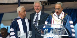 Bill Clinton at Howard University's commencement (Earl Gibson III/WireImage/Getty Images)