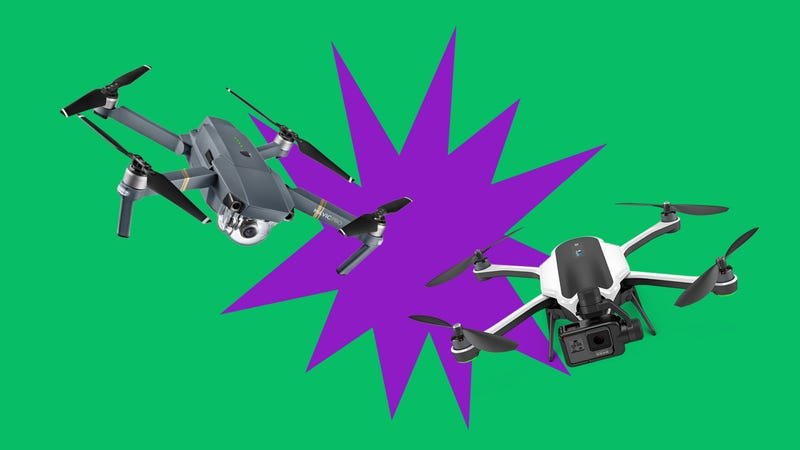 Illustration for article titled Does DJI's Tiny Mavic Pro Crush GoPro's Drone Dreams?