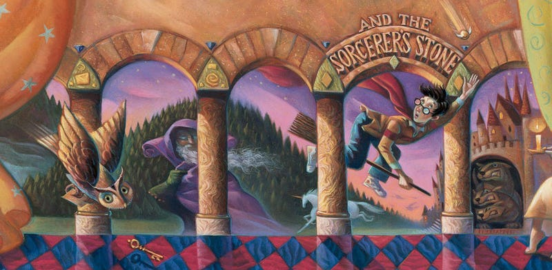 Part of the cover of Harry Potter and the Sorcerer's Stone. Image: Wiki
