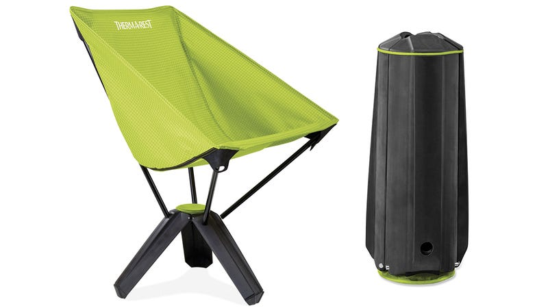 Illustration for article titled A Comfy Compact Camping Chair That Packs Away Into Its Own Legs