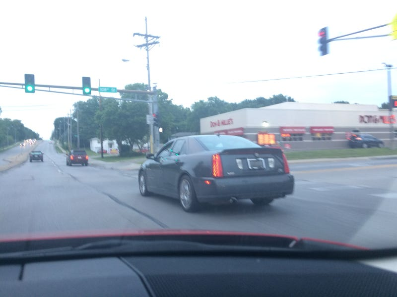 Illustration for article titled Worst Photo Ever Of: Cadillac STS-V
