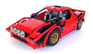 Illustration for article titled Check out this tail happy Lego Lancia Stratos