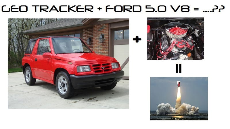 Illustration for article titled Geo Tracker + Ford 5.0 V8 =..?