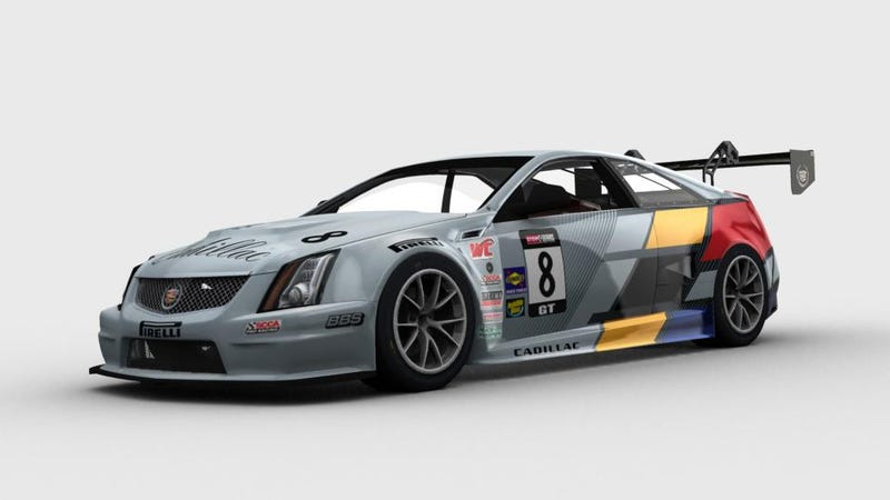 Illustration for article titled Cadillac CTS-V Coupe Racer Muscles Onto iRacing Roster