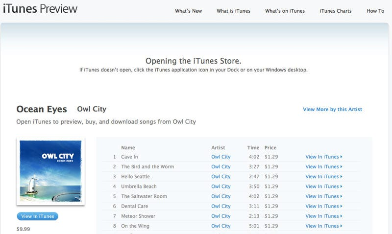 Illustration for article titled iTunes Enters the Web Browser with iTunes Preview