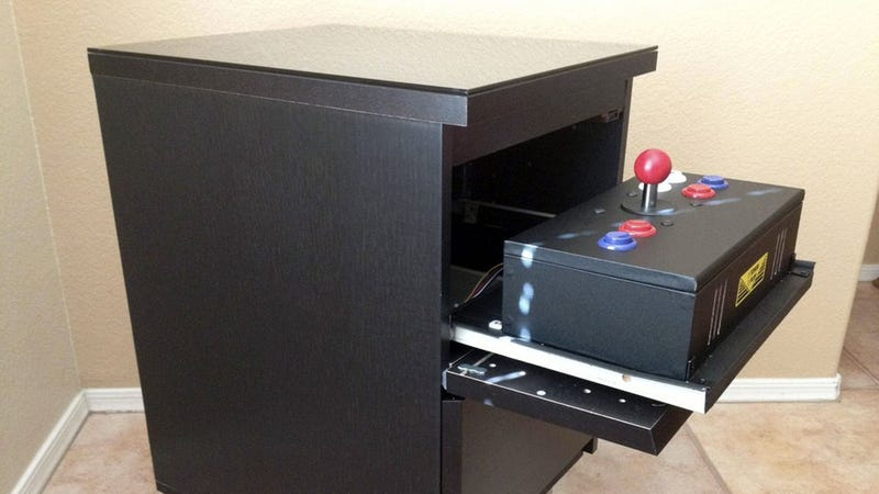 Illustration for article titled Turn an IKEA Nightstand into a Classic Arcade Cabinet