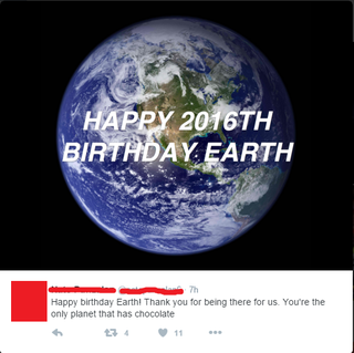 Illustration for article titled Happy 2016th birthday earth!!1!!111!111111111111111111111111111