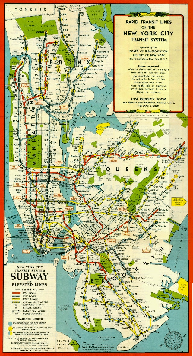 15 Subway Maps That Trace Nyc S Transit History
