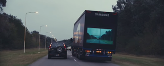 """Illustration for article titled Samsung Wants to Make """"See Through"""" Trucks That Are Safer to Pass"""