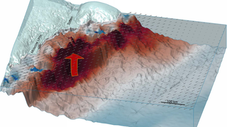 This is how warm water can undercut one of the biggest glaciers in East Antarctica. Image: Greene et al., 2017