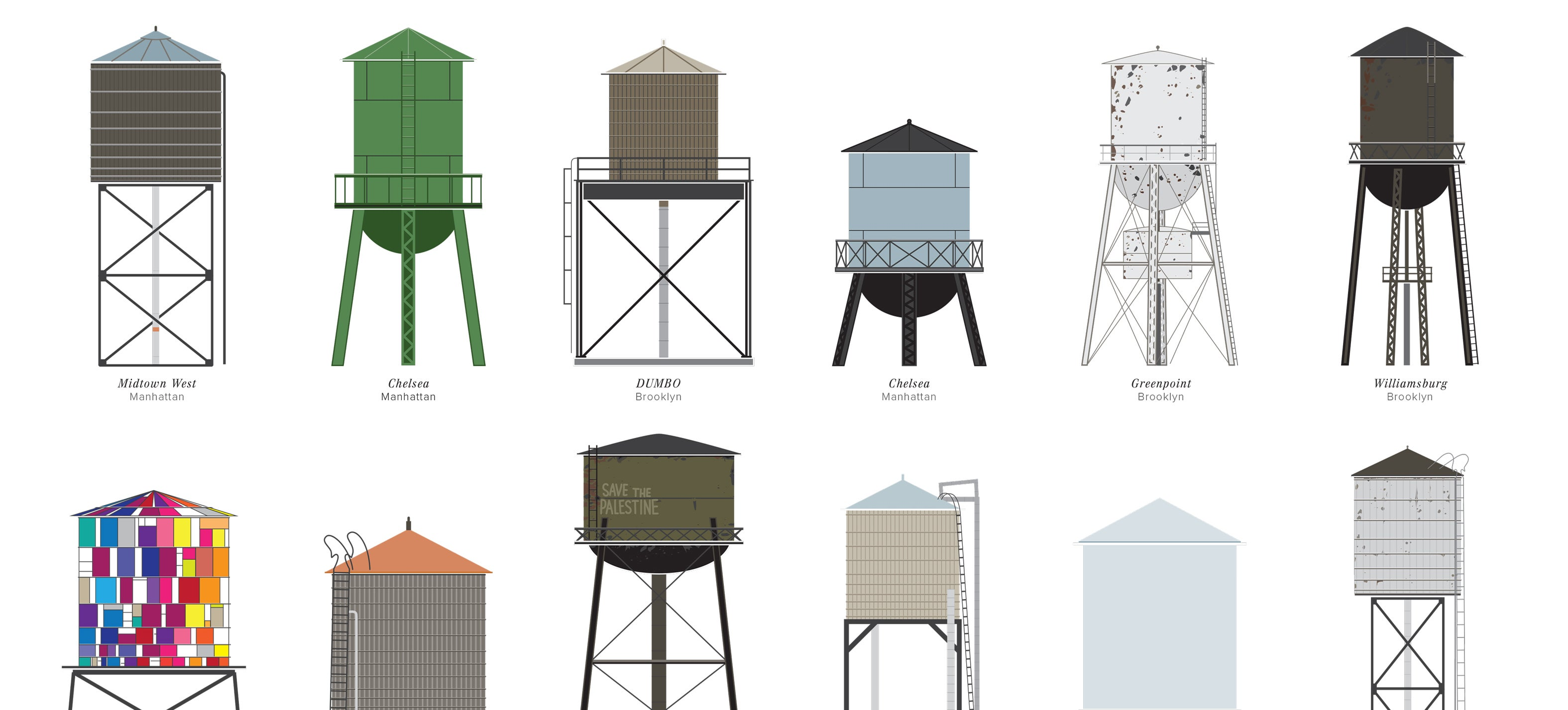 The Dirty Dilapidated And Delightful Water Towers Of New