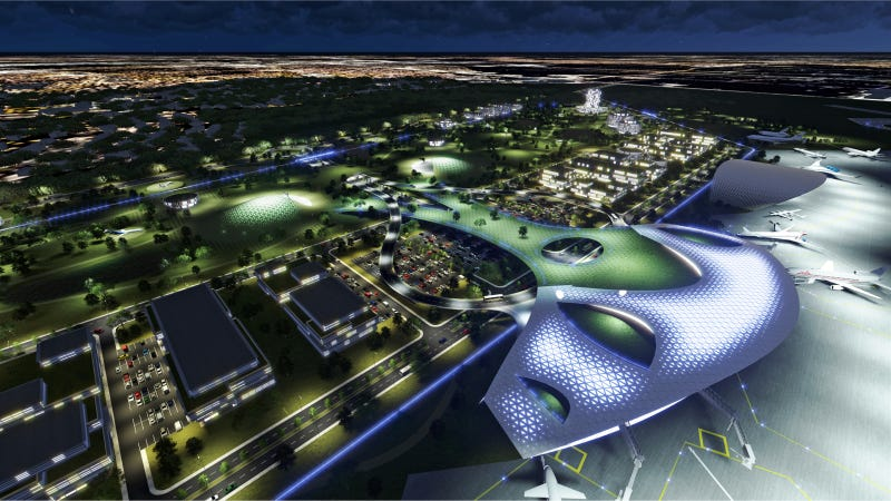 Illustration for article titled The Houston Spaceport Concept Is An Airport For The 21st Century