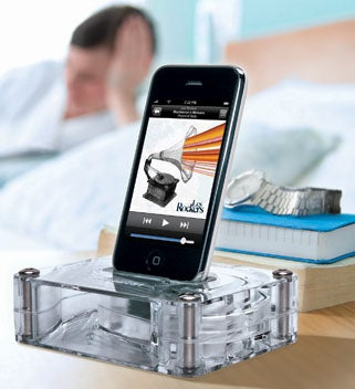 Illustration for article titled Griffin AirCurve Dock Amplifies Your iPhone Speakers Without Electronics