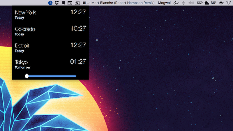 Illustration for article titled Clocker Crams a World Clock into Your Menu Bar