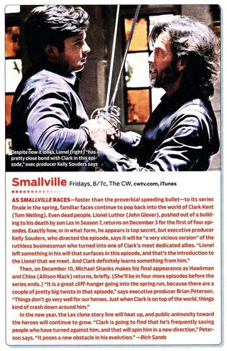 Illustration for article titled Smallville TV Guide Scan