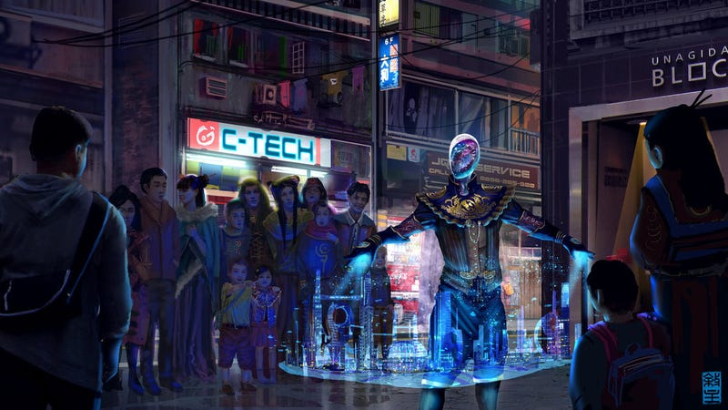 Illustration for article titled Concept Art Writing Prompt: The Projection Man