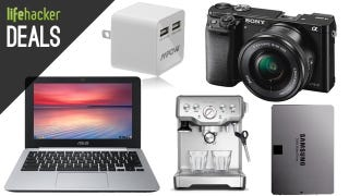 Illustration for article titled An Awesome Sony Camera, DIY Espresso, 11 Hour Chromebook [Deals]