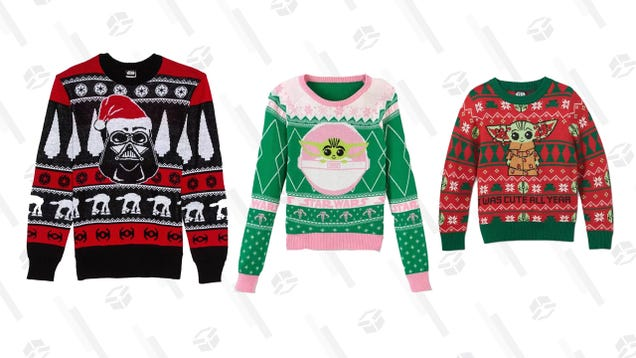 Give the Whole Family a Merry Sithmas With 30% off Ugly Star Wars Holiday Sweaters