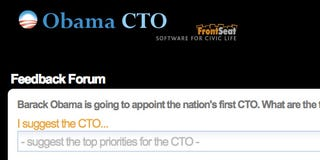 Illustration for article titled Obama CTO Lets You Suggest and Vote on Technology Priorities