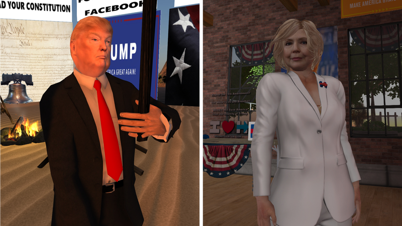 Illustration for article titled Here's How The Presidential Election Is Playing Out In Second Life [Update]