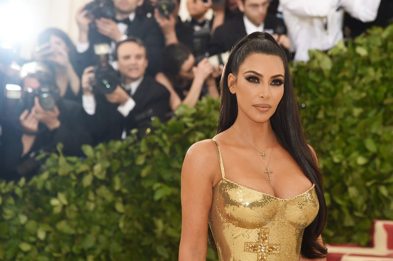 Kim Kardashian attends the Heavenly Bodies: Fashion and the Catholic Imagination Costume Institute Gala at the Metropolitan Museum of Art on May 7, 2018, in New York City.
