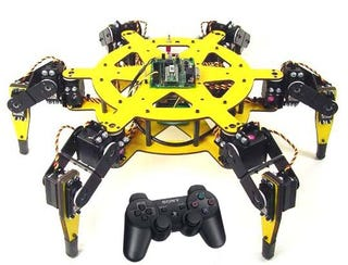 Illustration for article titled Lynxmotion R/C Spider Uses PS2 Controller
