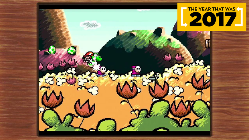 The original SNES version of Yoshi's Island got its first-ever re-release this year.