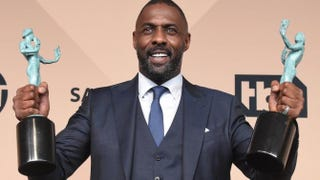 Idris Elba poses in the press room after winning the award for Outstanding Performance by a Male Actor in a Supporting Role for Beasts of No Nation during the 22nd Annual Screen Actors Guild Awards at the Shrine Auditorium in Los Angeles on Jan. 30, 2016.FREDERIC J. BROWN/AFP/Getty Images