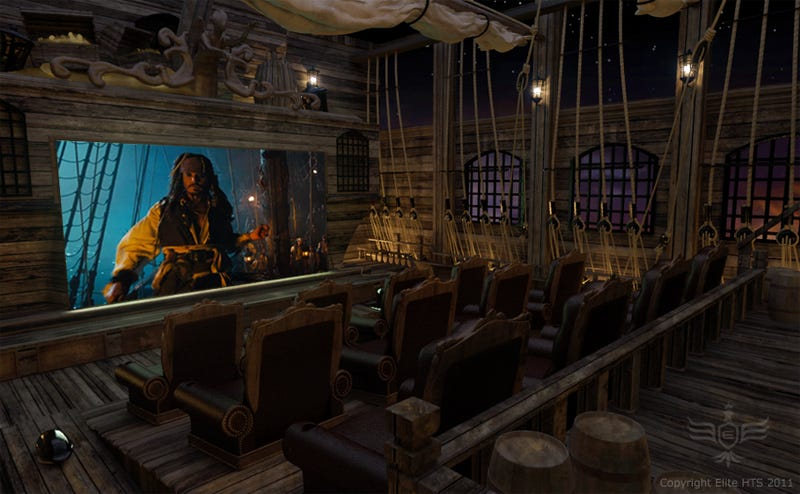 Ilration For Article Led This Pirate Themed Home Theater Should Serve Nothing But Expensive Rum