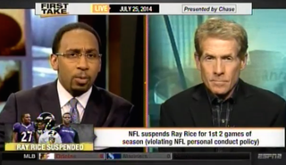 Stephen A. Smith and Skip BaylessESPN screenshot